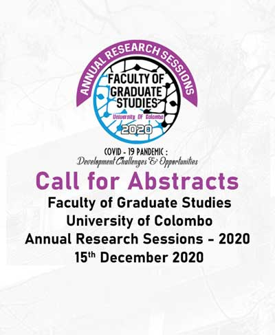 Annual Research Sessions 2020 – Faculty of Graduate Studies