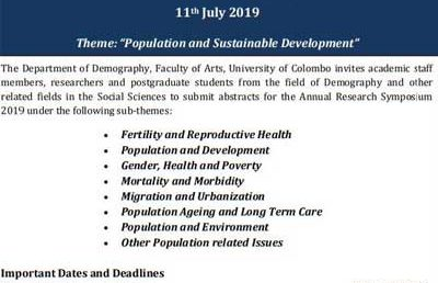 6th Annual Research Symposium 2019 – Department of Demography