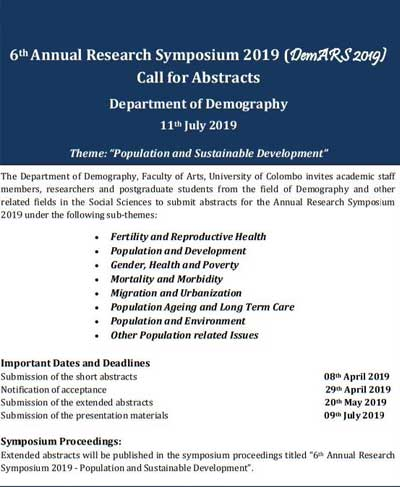 6th Annual Research Symposium 2019