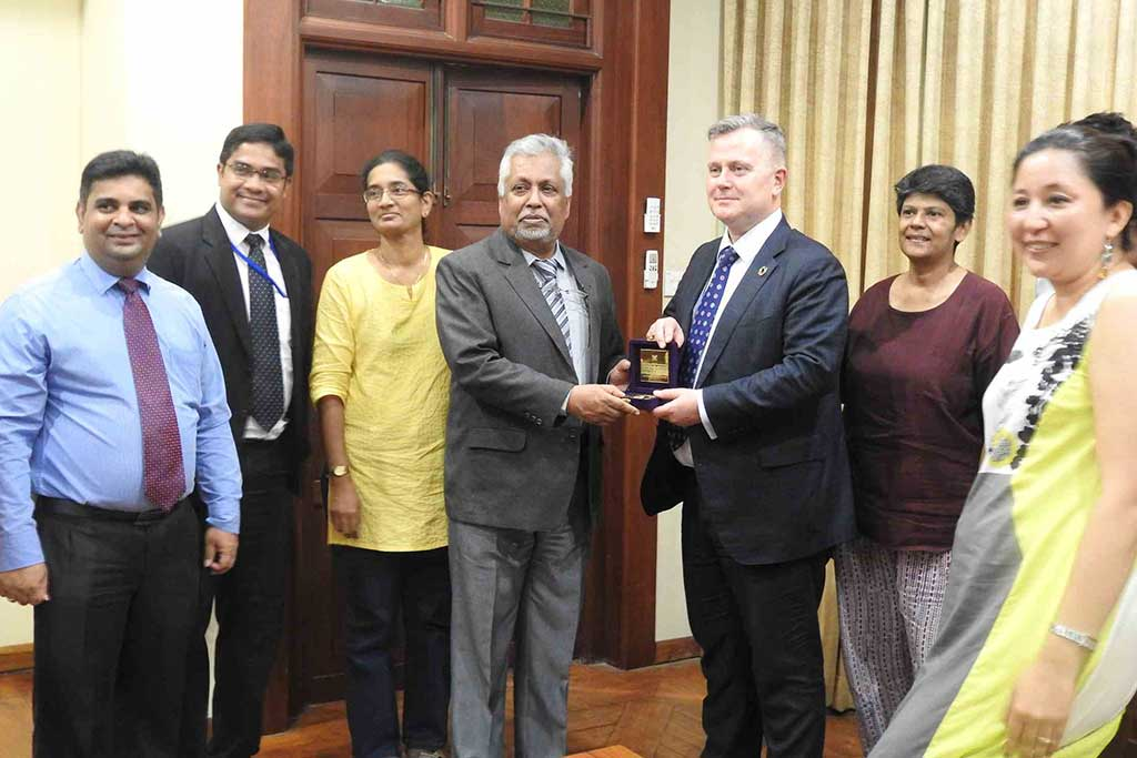 Asia Pacific Regional Director of the United Nations Population Fund (UNFPA), visited University of Colombo