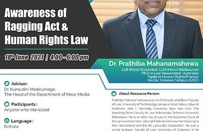 Awareness of Ragging Act & Human Rights Law
