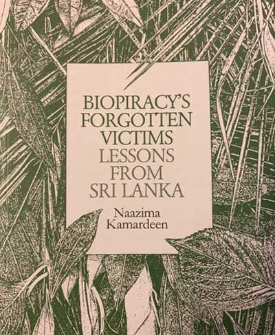"Book Launch ""Bio-piracy's Forgotten Victims: Lessons from Sri Lanka"""
