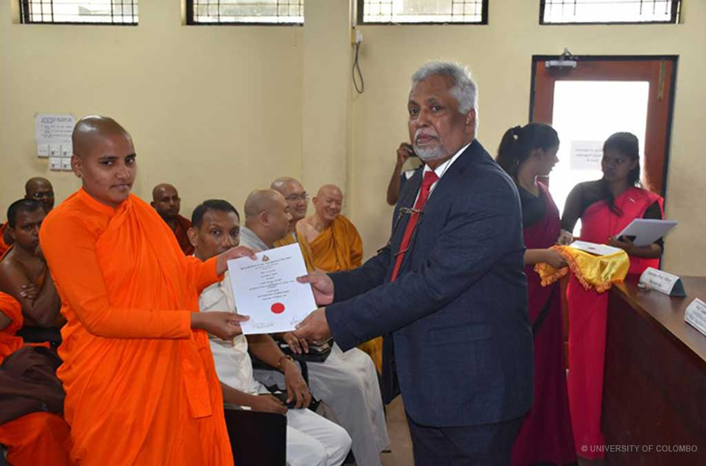 Certificate Awarding Ceremony, Department of Buddhist Studies