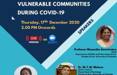 "Webinar on ""Challenges Faced by Urban Vulnerable Communities During COVID-19"