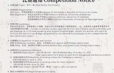 Chinese Bridge Competition 2021 – Confucius Institute