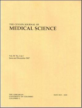 The Ceylon Journal of Medical Science – 2009