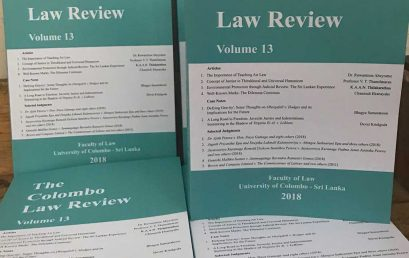 Launch of the Colombo Law Review 2018