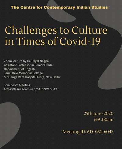 Challenges to Culture in Times of Covid-19