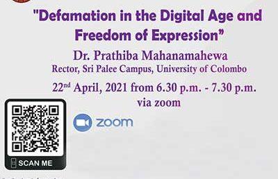 Defamation in the Digital Age and Freedom of Expression – Dr. Prathiba Mahanamahewa