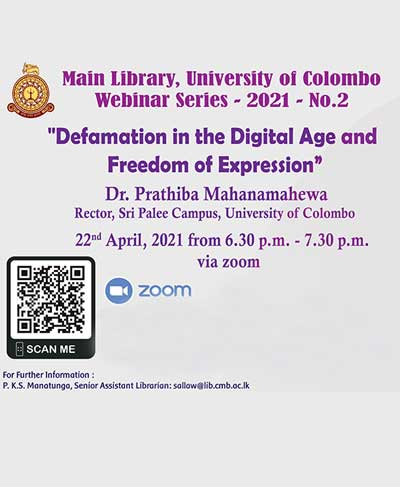 Defamation in the Digital Age and Freedom of Expression – Dr. Prathiba Mahanamahewa