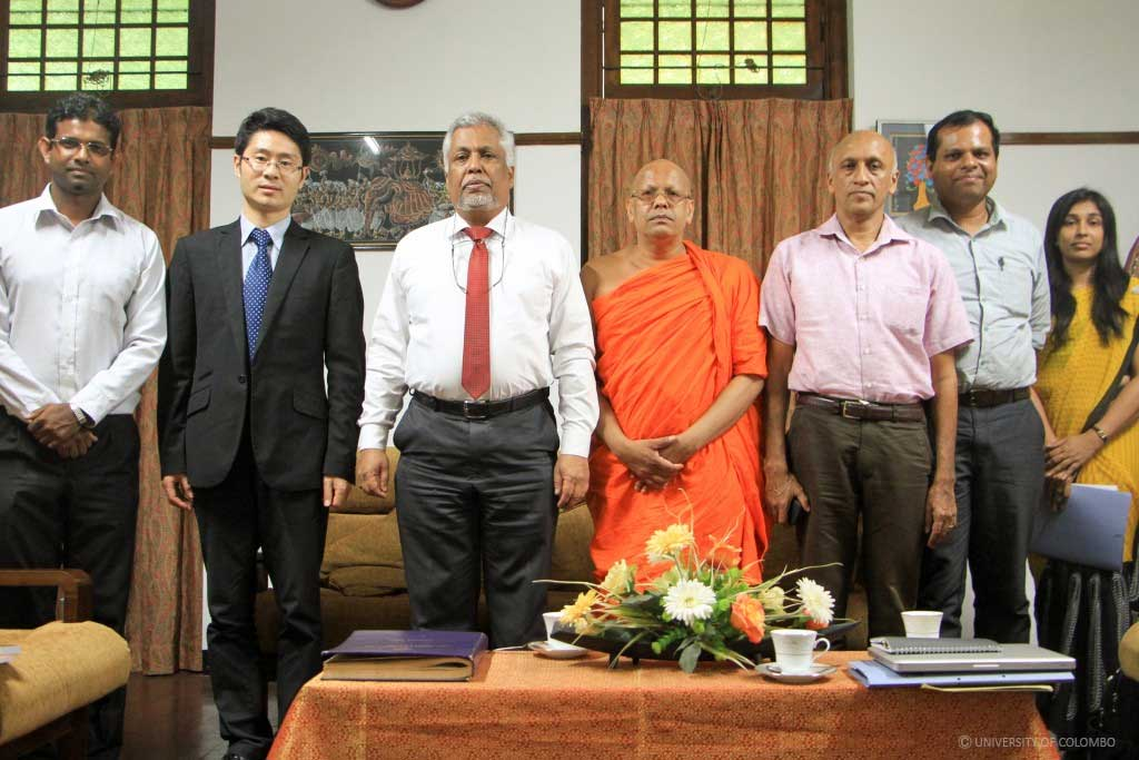 A delegation from Beijing Foreign Studies University visited University of Colombo