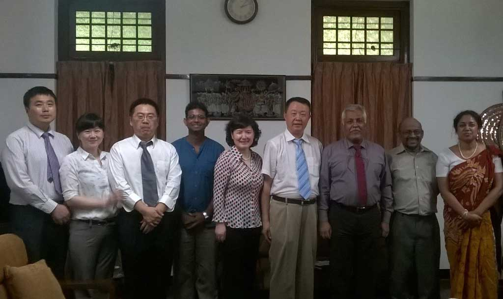 A delegation from Southern University of Science and Technology visited University of Colombo