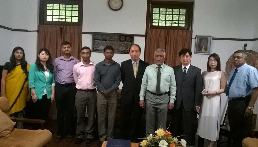 A delegation from Wuhan University visited University of Colombo