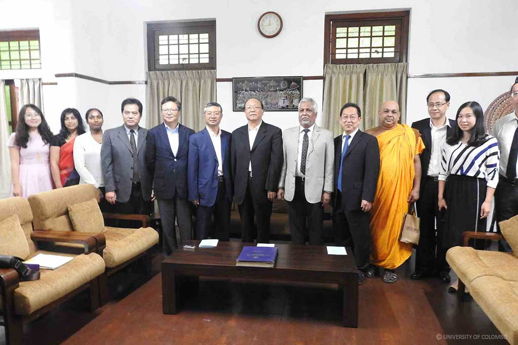 A High-Profile Education delegation from Yunnan Province, China visited University of Colombo