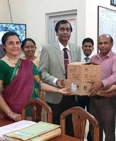 Donation to the Apeksha Hospital Maharagama