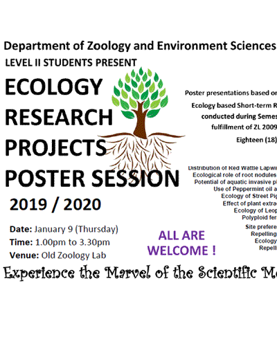Ecology Research projects Poster Session