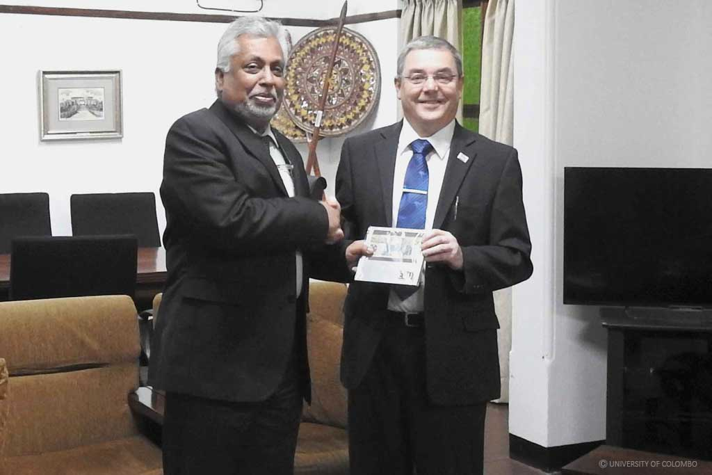 The Vice Chancellor of Edith Cowan University visited University of Colombo