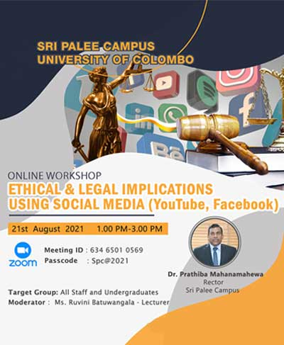Online Workshop on Ethical and Legal Implications Using Social Media (YouTube, Facebook)