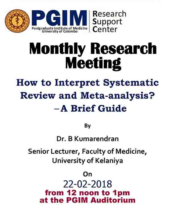 Monthly Research Meeting-PGIM