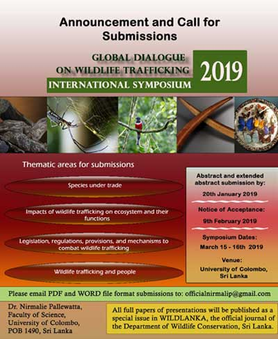 Global dialogue on wildlife trafficking: Call for papers