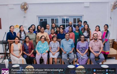 Farewell of Professor W N Wickremasinghe