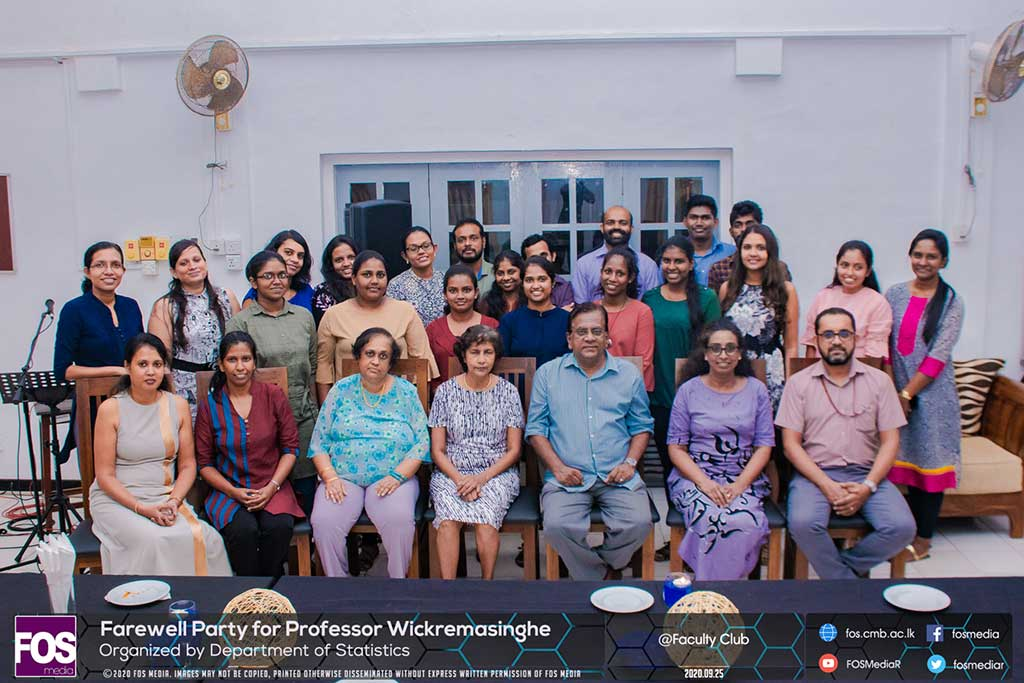 Farewell of Professor W N Wickremasinghe