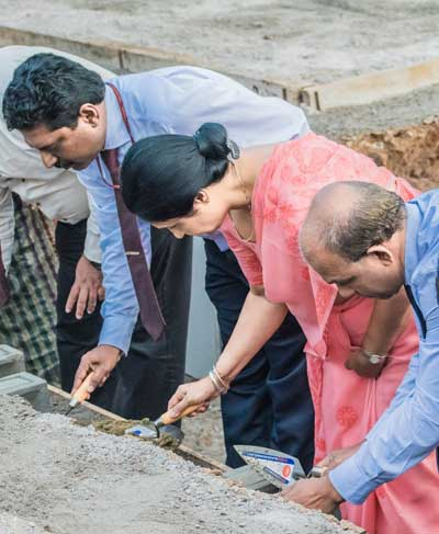 Foundation Stone Laying Ceremony of the Help Zone