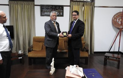 His Excellency Mr.Riaz hamidullah, the high commissioner of People's Republic of Bangladesh visited University of Colombo