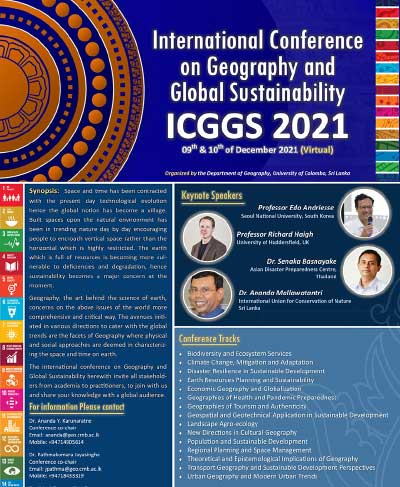 """International Conference on """"Geography and Global Sustainability"""" (ICGGS 2021)"""
