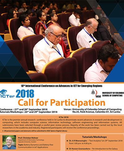 ICTer 2018 Conference