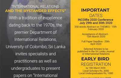 "INCoRe International Conference on ""International Relations and the Bystander Effects"""