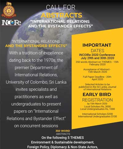 """INCoRe International Conference on """"International Relations and the Bystander Effects"""""""