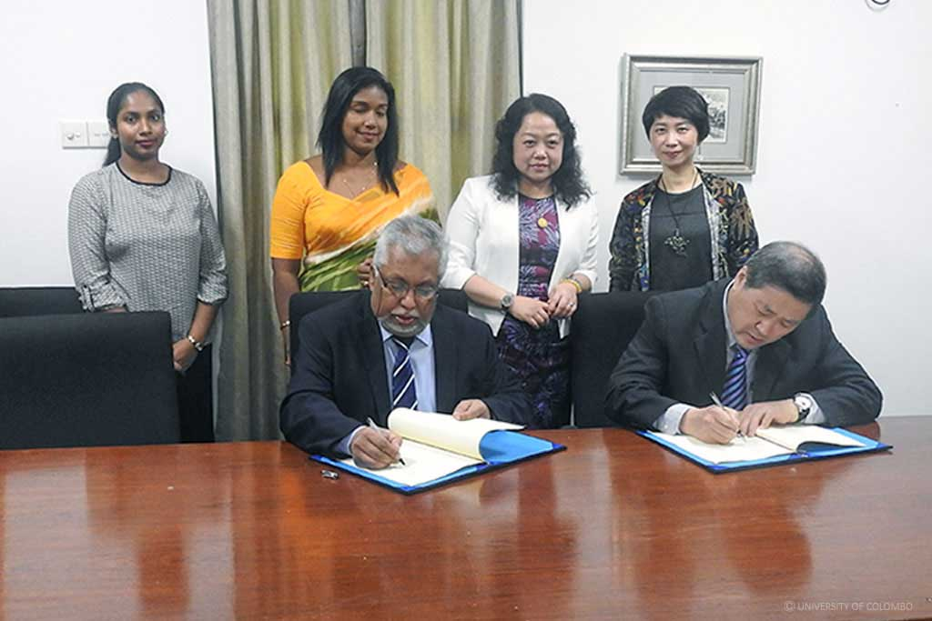 Jinan University China to collaborate with University of Colombo