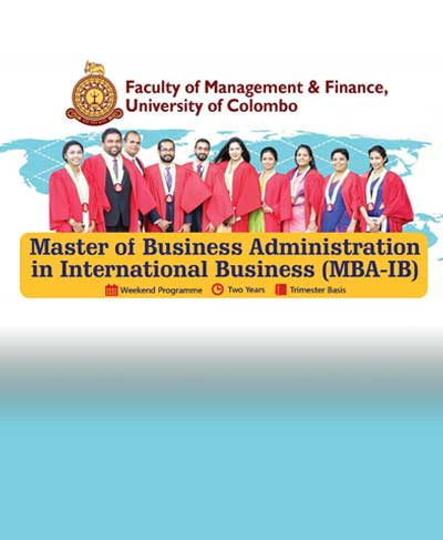 Master of Business Administration in International Business (MBA-IB) 2020-2022