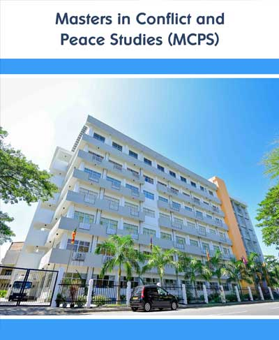 Masters in Conflict and Peace Studies 2019/2020