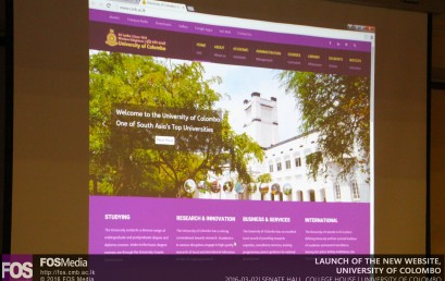 Launch of the University of Colombo new official website