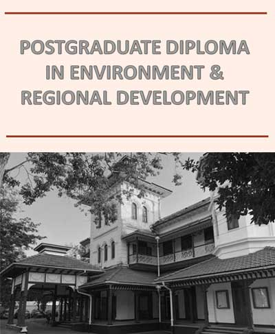 PG Diploma in Environment and Regional Development 2019