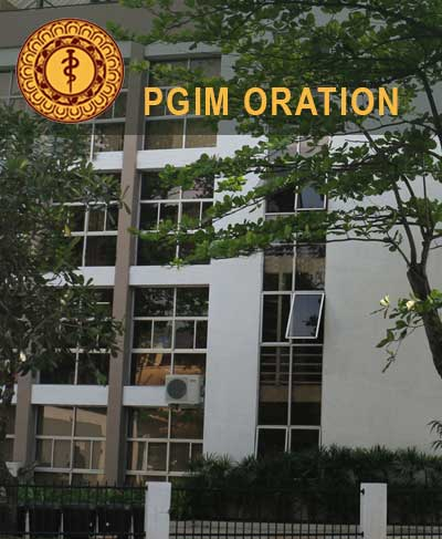 PGIM Oration 2019 – Call for applications