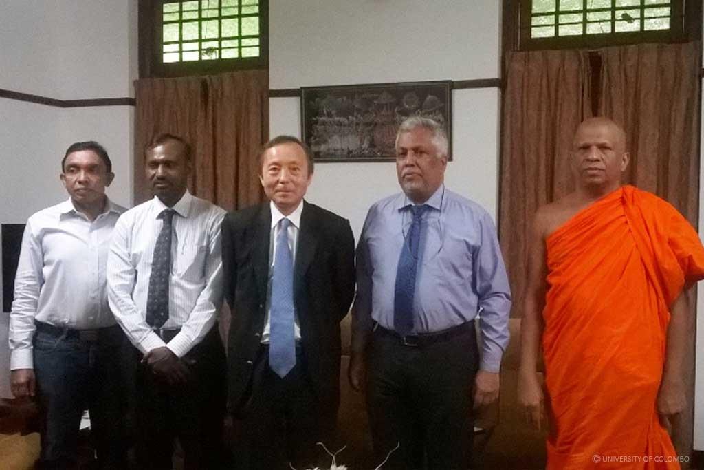 The President of International University of Japan visits University of Colombo