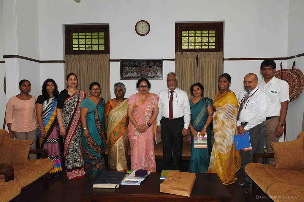 President of South Asian University, India visited University of Colombo