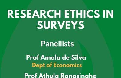 Research Ethics in Surveys, Postgraduate Seminar 3 – Faculty of Arts