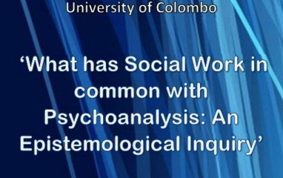 "Seminar on ""What has Social Work in common with Psychoanalysis: An Epistemological Inquiry"" – 14th Sept"