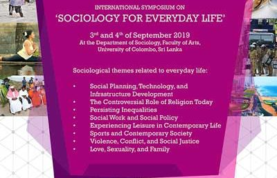 International Symposium on 'Sociology for Everyday life' – Department of Sociology
