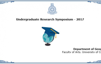 Undergraduate Research Symposium , Department of Geography