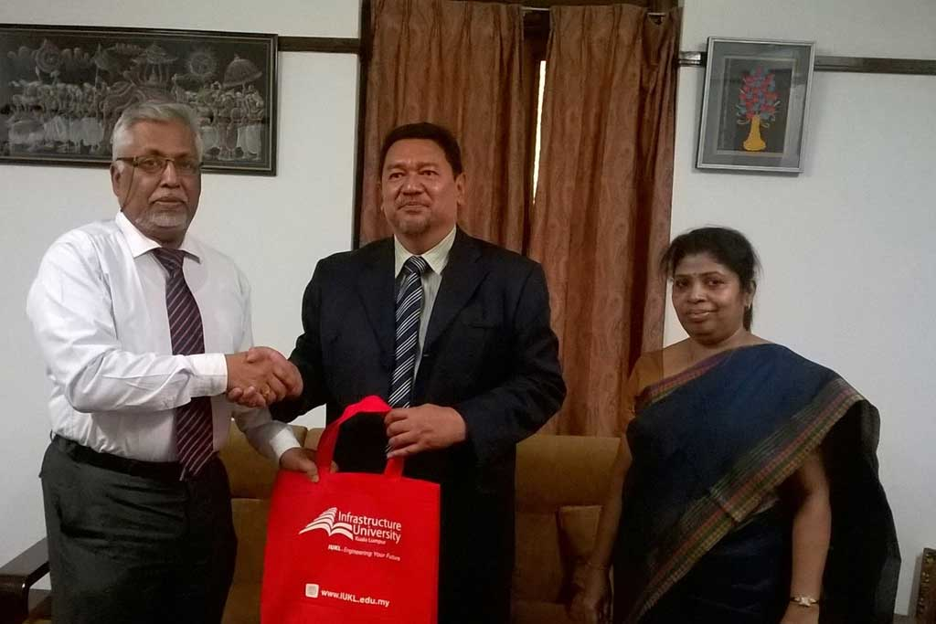 Vice Chancellor of Infrastructure University Kuala Lampur, Malaysia visited University of Colombo