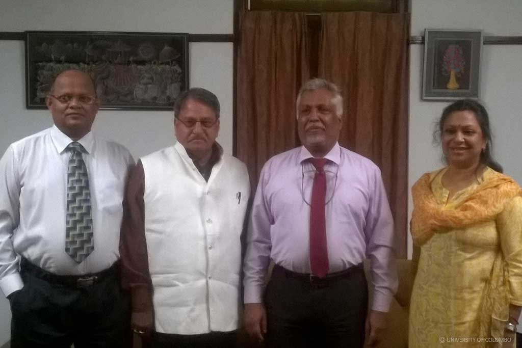 The Vice Chancellor of Mohanlal Sukhadia University visited University of Colombo