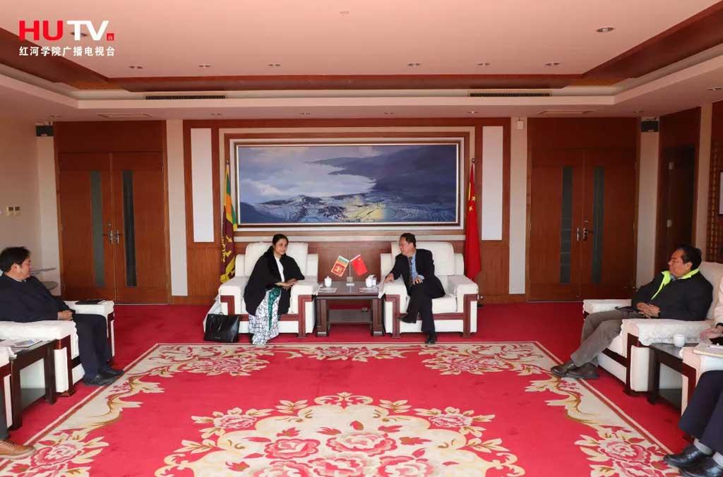 Vice Chancellor Visits Honghe University, China