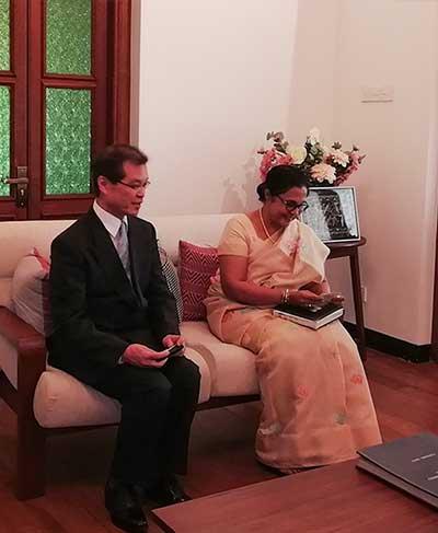 Vice President University of Tokyo visits University of Colombo
