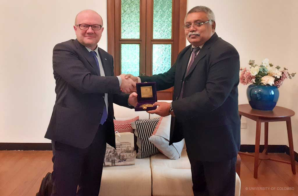 Vice Rector of University of Warsaw, Poland visits University of Colombo