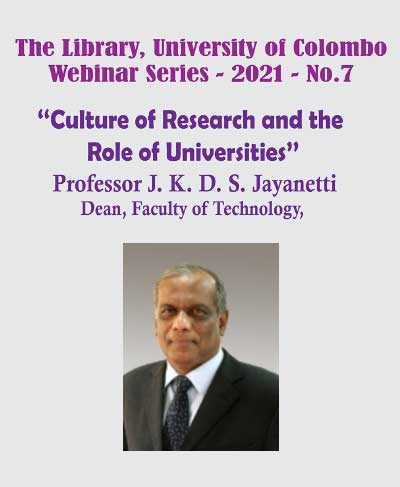 Webinar: Culture of Research and the Role of Universities